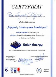 SolarEnergy_certyfikat